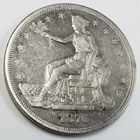 1876 S UNITED STATES SILVER TRADE DOLLAR BETTER DATE RARE CO