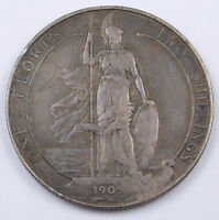 1905 GREAT BRITAIN STERLING SILVER FLORIN   EDWARD VII   KM 801
