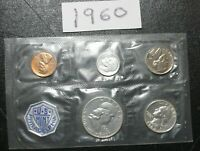 1960 P US MINT PROOF SET HAS 3 X 90  SILVER COINS ALL UNCIRC