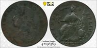 1787 PCGS F DETAIL EXC. CORROSION DRAPED BUST LEFT CONNECTIC