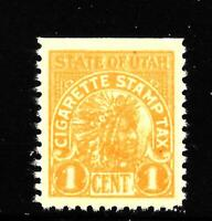 HICK GIRL M.N.H. U.S. STATE OF UTAH  ONE CENT CIGARETTE TAX