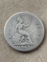 1843 FOUR PENCE COIN SILVER