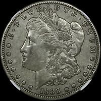 1888-S $1 MORGAN SILVER DOLLAR NGC EXTRA FINE 40  OLD TYPE COIN