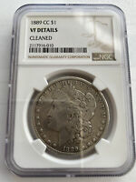 1889 CC CARSON CITY MORGAN SILVER DOLLAR NGC VF DETAILS - CLEANED