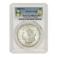 FINEST KNOWN 1880-CC $1 SILVER MORGAN PCGS MINT STATE 68 PQ APPROVED ILLINOIS SET