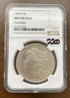 1894-S $1 NGC UNC DETAILS CLEANED MORGAN SILVER DOLLAR