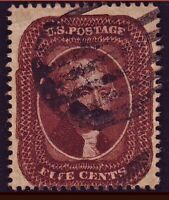 US 28A INDIAN RED? DEEP DARK COLOR. EXTREMELY CRISP & FRESH