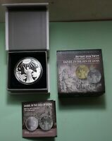 2012 DANIEL IN THE LION'S DEN ISRAEL 925 SILVER COIN 28.8 GM