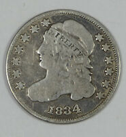 BARGAIN 1834 CAPPED BUST SILVER DIME  GOOD SILVER 10C