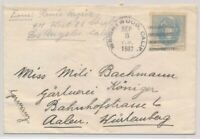 LO35487 USA 1937 TO AALEN WURTEMBERG GOOD COVER USED