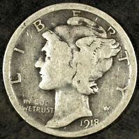 1918 S MERCURY SILVER DIME  CIRCULATED  GREAT FOR SETS 313