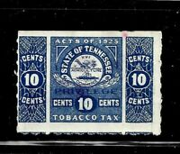 HICK GIRL  USED U.S. STATE REVENUE   10 CENT TENNESSEE TOBAC
