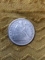 1872 SEATED LIBERTY SILVER ONE DOLLAR HIGHER GRADE DETAILS B