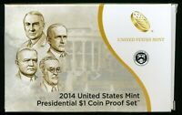2014 S UNITED STATES MINT PRESIDENTIAL $1 COIN PROOF SET W/