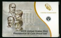 2013 S UNITED STATES MINT PRESIDENTIAL $1 COIN PROOF SET W/