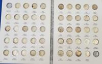 48 PIECE US 90  SILVER CIRC ROOSEVELT 10C 1946 64D USED FOLD