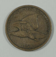 1858 FLYING EAGLE CENT WITH SMALL LETTERS FINE 1C