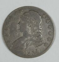 1834 CAPPED BUST/LETTERED EDGE LARGE DATE & LETTERS SILVER HALF DOLLAR FINE