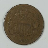1865 TWO-CENT PIECE  GOOD 2-CENTS