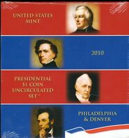 2010 P & D UNITED STATES MINT PRESIDENTIAL $1 COIN UNCIRCULA