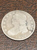 1829/7 CAPPED BUST HALF DOLLAR - GOOD CONDITION