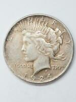 UNITED STATES 1924 PEACE ONE DOLLAR COIN 28362-1