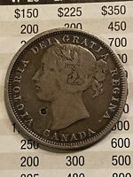 CANADA 1858 20 CENTS F TO VF NICE COIN