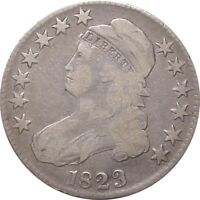 1823 BUST HALF DOLLARS  FINE  PATCHED 3