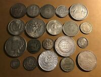 WORLD   LOT OF 20 SILVER COINS AVERAGE VF   GREAT LOT