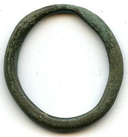 LARGE OVAL AUTHENTIC BRONZE ANCIENT CELTIC RING MONEY 800 500 BC DANUBE AREA