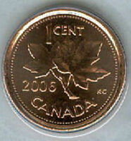 2006 P PENNY 1 ONE CENT CANADA '06 BU COIN CANADIAN MAGNETIC LOT OF 50