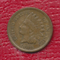 1908 S INDIAN HEAD CENT  KEY DATE! VERY NICE CIRCULATED CENT !