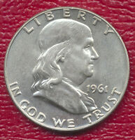 1961 D FRANKLIN SILVER HALF DOLLAR BRILLIANT UNCIRCULATED