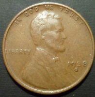 1938-S LINCOLN WHEAT CENT S/S/S REPUNCHED MINTMARK RPM  COMBINED SHIP  W59