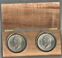 1976 P&D IKE DOLLARS IN A REALLY COOL DISPLAY BOX IN AIRTIGHTS UNCIRCULATED