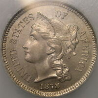1878 THREE CENT NICKEL APPEALING BEAUTIFUL CHOICE GORGEOUS PQ 2.3K STRUCK