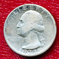 1932 D WASHINGTON SILVER QUARTER KEY DATE! NICELY CIRCULATED !
