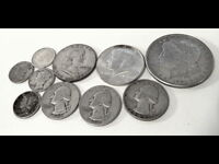 $3.15 F.V. @ 90 JUNK SILVER WITH 1800'S MORGAN SILVER DOLLAR & MORE .