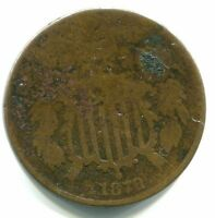 1870 TWO CENT PIECE   CLEAR DATE    DATE