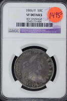 1806/9  NGC VF DETAILS  DRAPED BUST HALF DOLLAR