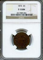 1872 TWO CENT PIECE NGC F15BN  2C 3317089-002