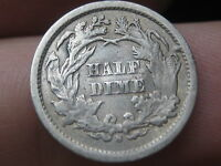 1869 S SEATED LIBERTY HALF DIME  VG/VERY GOOD DETAILS