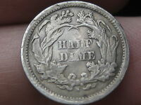 1869 S SEATED LIBERTY HALF DIME  VG/FINE REVERSE DETAILS