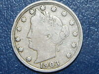 1903 5C LIBERTY NICKEL  COIN  616