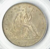 1877 S   LIBERTY SEATED HALF   PCGS MS 64   STUNNING COIN    $1,588.88