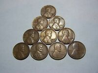 10-LINCOLN WHEATS 1910 1919-D 1936 1939 1941 1940 1942 1948 1945 1953-D
