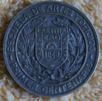 CHILE 1849 1949 MEDAL 100 YEARS SCHOOL OF ARTS AND CRAFTS BY CASA DE MONEDA