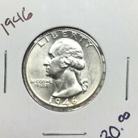 1946 25C WASHINGTON QUARTER LOT 87543892