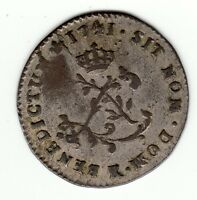FRENCH COLONIAL NICE 1741 K  BILLON SOUS MARQUES VLACK 124 UNREPORTED VARIETY