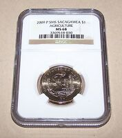 2009 P SMS SACAGAWEA $1 AGRICULTURE NGC MS68     ONE DOLLAR